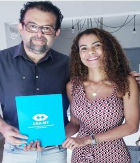 Diretora de Fiscalização do CRA-MT atende profissional na cidade de Barra do Garças/MT