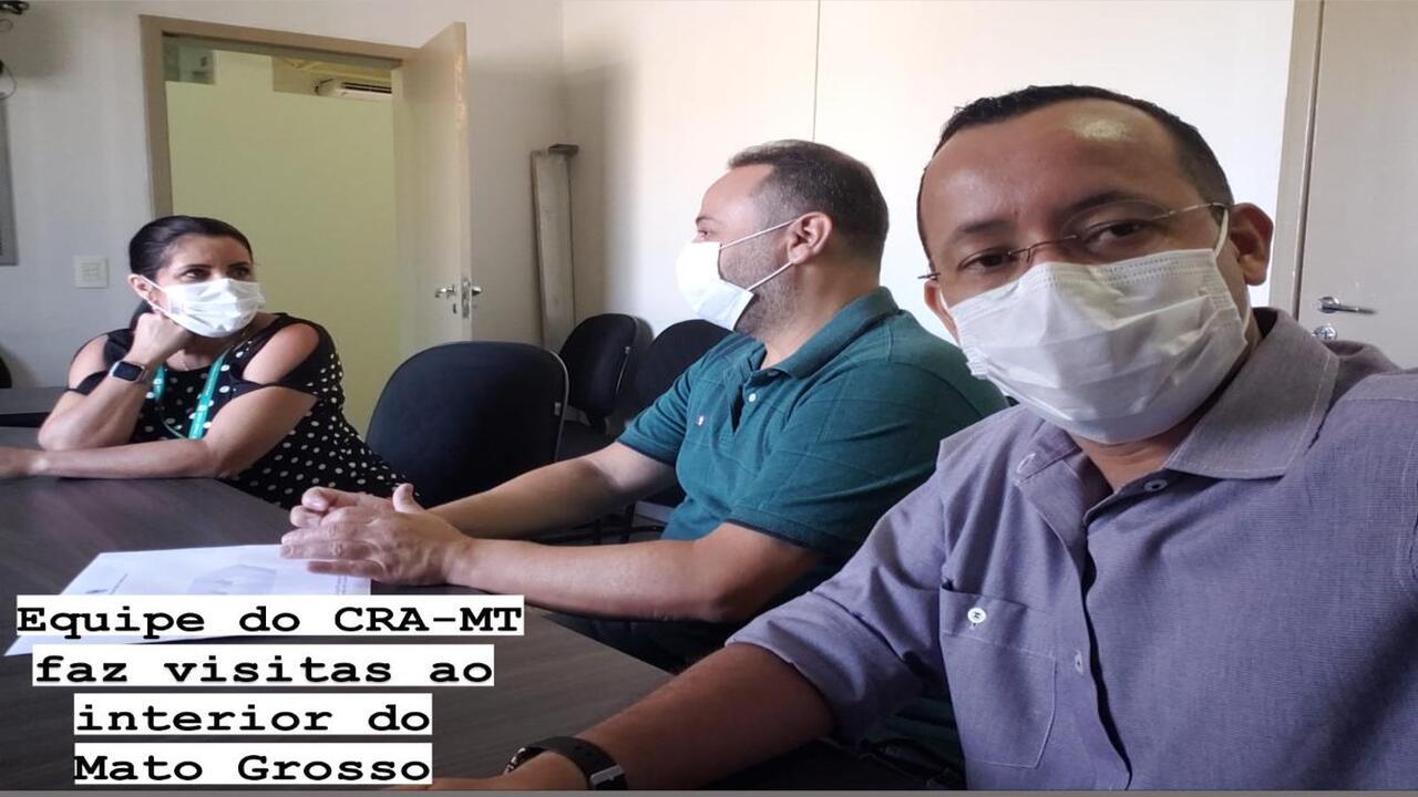Equipe de fiscalização e registro do CRA-MT realiza visitas de parceria e conscientização ao interior de Mato Grosso