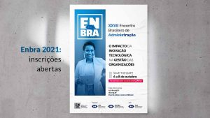 Encontro Brasileiro de Administração será realizado em outubro